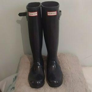 Hunter Boots navy blue gloss